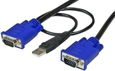 2-in-1 Ultra Thin USB KVM Cable, 3m - STARTECH • 22.09£