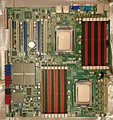 ASUS KGPE-D16 2 X Opteron 6276 2GB DDR3 AMD G34 Motherboard Tested Booting • 0.99£
