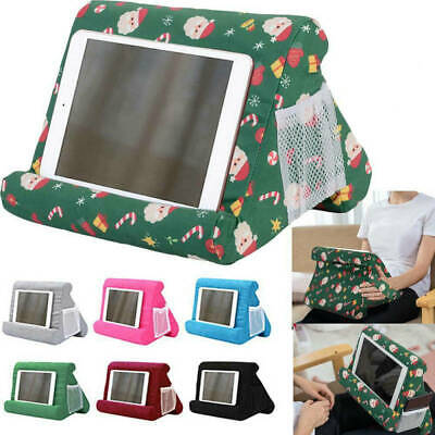Christmas Tablet Stand Pillow Holder Book Reader Rest Lap Reading Cushion Soft • 8.96£