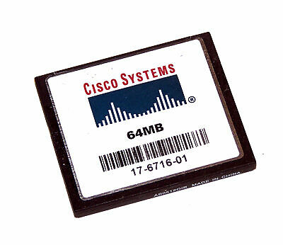 Cisco 17-6716-01 64MB Compact Flash CF Card | 2811 2851 Routers • 12.99£