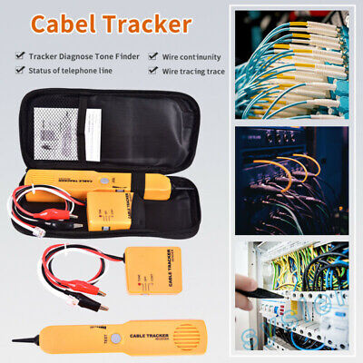 1x Cable Finder Tone Generator Probe Tracker Wire Network Tester Tracer Kit W2e • 12.69£
