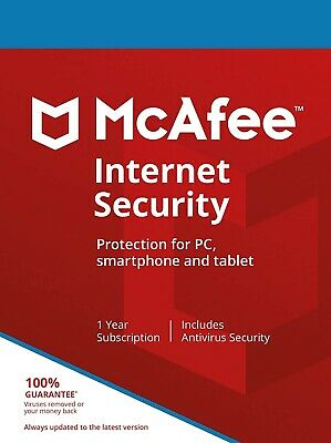 McAfee Internet Security 2021 | 1 Year | Windows/MacOS/Android/iOS • 4.49£