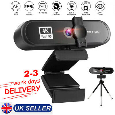 4K HD Autofocus USB Webcam Camera W/Microphone For PC Video Calling Conference • 36.99£