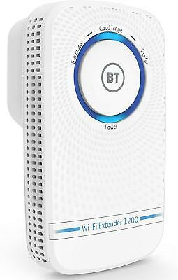 BT 1200Mbps Wifi Booster Signal Extender Repeater Wireless Range Internet Plug • 42.76£