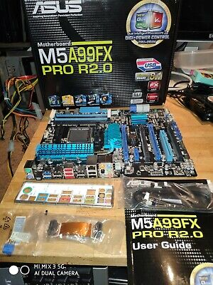 Asus M5A99FX Pro R2.0 AM3+ MotherboardFull Boxed FX9590 Support • 26£