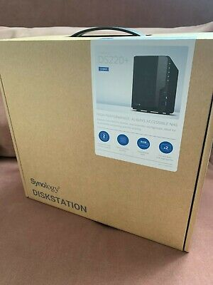 Synology DiskStation DS220+ NAS Storage Server - Black • 309£