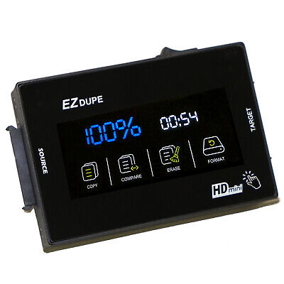 Hard Drive Duplicator 1 To 1 EZ Dupe SOHO Touch Cloner • 183.42£