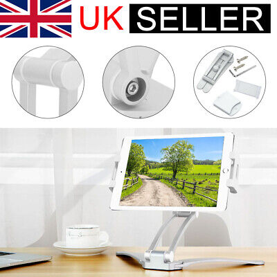 UK Multifunction Kitchen Fold Wall Mount IPad Tablet Phone Stand Holder Bracket • 12.59£