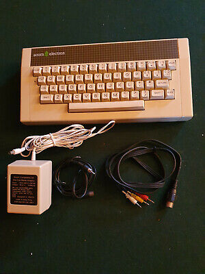 Acorn Electron Computer, Working With Power Supply And  Leads. • 59£