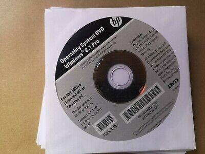 HP Win 8.1 Pro Operating System DVD NEW UN-OPENED • 10.99£