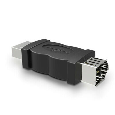 Firewire IEEE 1394 6-Pin Female F To USB M Male Adapter Converter Joiner Plug PC • 4.53£