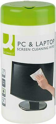 100 Screen Wet Wipes Laptop LED LCD TV Computer IPad Monitor Removes Dirt & Dust • 3.17£