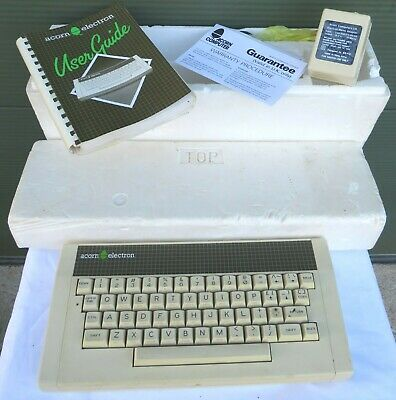 Boxed Vintage Acorn Electron Computer Keyboard, With User Guide & Power Adaptor • 65£