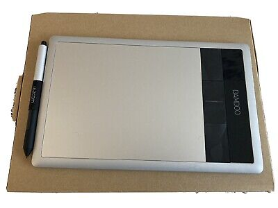 Small Wacom Bamboo Tablet Graphic Design Silver • 5.50£