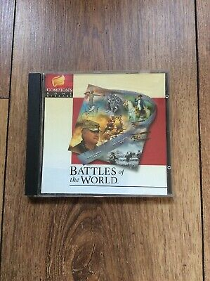 Compton's Home Library Battles Of The World CD- ROM • 3.50£