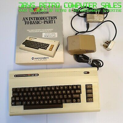 Commodore Vic 20 For Spares Vic20 Vc 20 Vc20 + Power Supply + Manual + Software • 39.99£