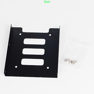 2pcs 2.5 To 3.5 Inch SSD HDD Caddy Adapter Mounting Bracket For Desktop PC • 12£