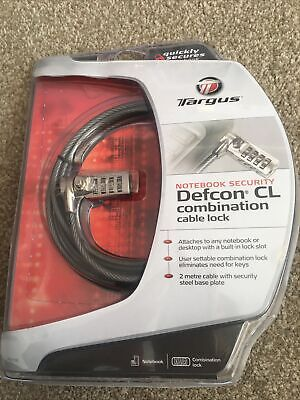 Targus Notebook Security Defcon CL Combination Cable Lock BNIP • 8£