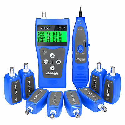 Multi-functional LCD Network Cable Tester Wire Tracker RJ11 RJ45 BNC Wire M0T5 • 55.49£