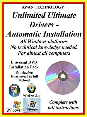 1.2million 32b 64 Bit AUTOMATED DRIVER INSTALLATION PACK WINDOWS 7/8/10 • 1.99£