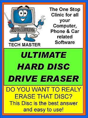Easy Erase  All Traces Disc Hard Drive Data Destruction Software Windows Format • 2.95£