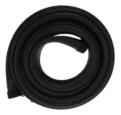 Fisual Zip Up Cable Tidy Wrap - Black - 1M • 10£