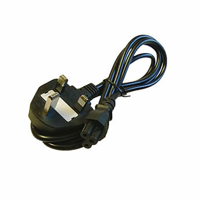 New Laptop 3 Pins Clover Figured Mains Power Cord Cable UK Lead • 2.94£