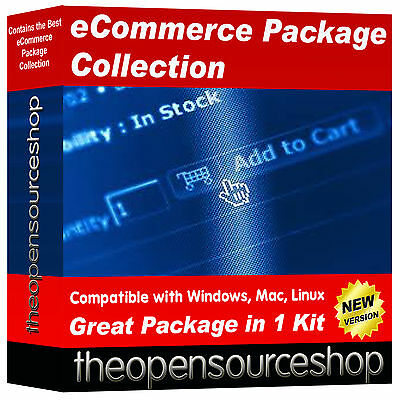 ECommerce Website Shop & CRM Software Collection – Setup Your Own Website • 14.95£