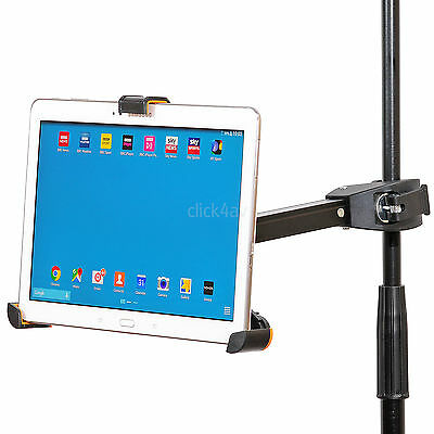 IPad Tablet Holder Music Microphone Mic Stand Clamp Mount 8.9-10.4 Inch PAD405 • 14.95£