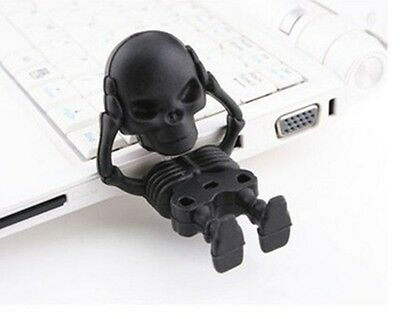 Black Skeleton Skull Horror Cool Novelty 16GB USB Drive Memory Stick Gift Presen • 5.99£