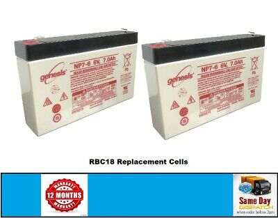 2 X NP7-6 - UPS Replacement Battery Pack For APC RBC18 • 21.50£