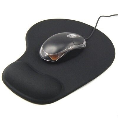 Black Comfort Wrist Rest Support Mat Mouse Mice Pad Computer PC Laptop Soft • 4.49£