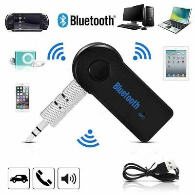 Wireless Car Bluetooth Receiver Adapter 3.5MM AUX Audio Stereo Music UK STOCK • 4.99£