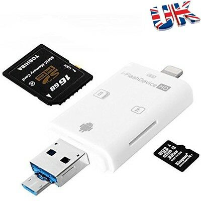 IFlash Drive I-Flash OTG Device USB Pen Memory Stick For IPhone IOS Andriod PC • 4.99£