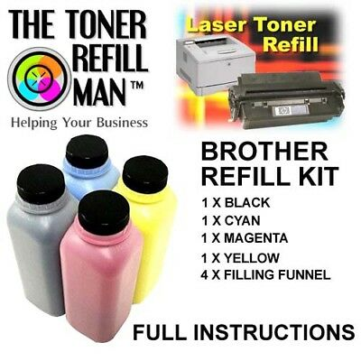 Toner Refill Kit For Use In Brother HL-L8260CDW Printer BK,C,M,Y TN421/423/426 • 48.95£