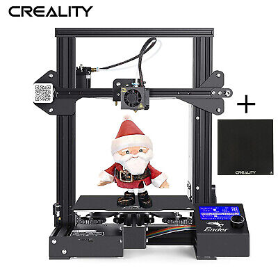 UK Plug New Creality Ender 3 + Glass Bed 220X220X250mm DC 24V Ship By Royal Mail • 219.99£