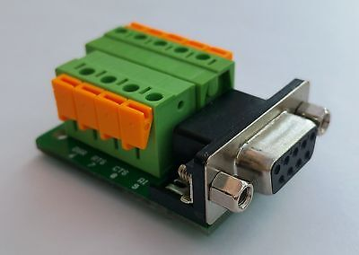 DB9 DSUB 9-pin Female Adapter RS-232 Breakout Board Connector (D14) • 4.75£