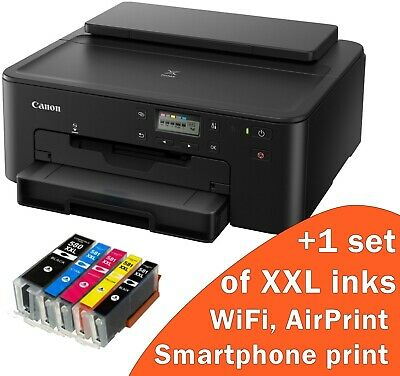 Brand New Printer With Ink Canon Pixma TS705 Printer+5 XXL Inks WiFi Cd Printer • 89.88£
