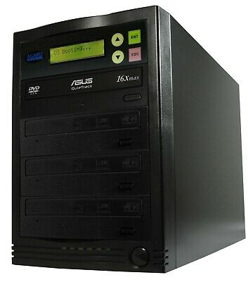 Acard 1 To 3 CD/DVD Copier Duplicator Standalone Tower System With Asus Drives • 250£