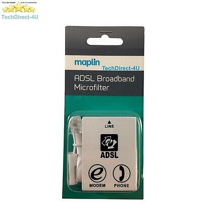 Certified Maplin ADSL Micro Filter Broadband BT Telephone Phone Microfilter • 4.99£