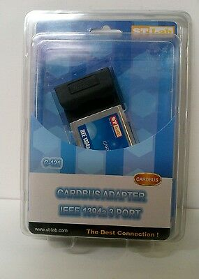 Card Bus Adapter IEEE1394a 3 Port St-Lab C-121 • 11£