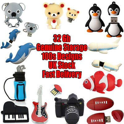 Novelty 32 Gb USB Flash Drives Cute Animal Shaped Memory Sticks Cool Gifts • 6.99£