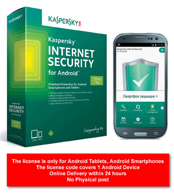 Kaspersky Internet Security For Android 2020 Premium Version (1 Android Device) • 3.85£