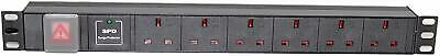 1U 6 Way 13A PDU 19  Inch Rack Switch Surge Protected Power Distribution Unit  • 16.95£