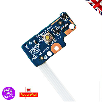 New HP 15-G | 15-R Series Power Button Board And Ribbon 749650-001 | LS-A991P • 5.95£