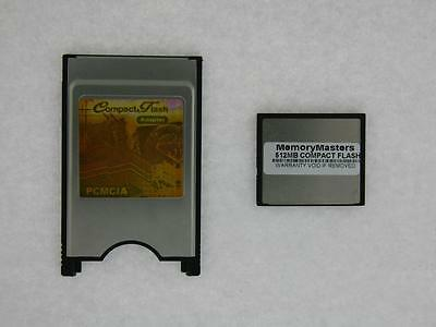 512MB Compact Flash +PC Card PCMCIA Adapter JANOME 512MB • 27.27£