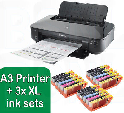 Canon PIXMA IX6850 A3 Wireless Wi-Fi Office A3+ Air Printer + 3 Sets Of XL Inks  • 189.88£
