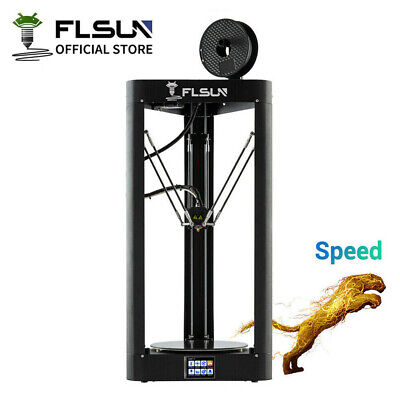 3D Printer Flsun QQ-S Pro Large Size Delta 255x255x360mm Auto-level Touch Screen • 239.99£