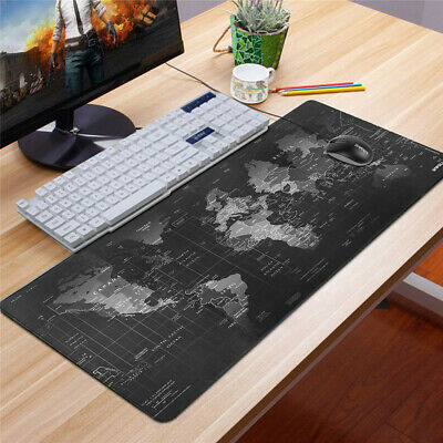 Non-slip World Map Design Wide Large Computer Mouse Pad Desk Mat 80*30 Earth Map • 6.95£