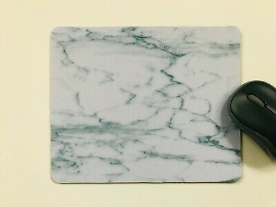 Mouse Mat Pad White Marble Desktop Laptop Office  Made In UK • 3.95£